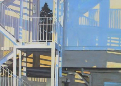 Morning Shadows - 2005 • Oil on canvas • 210 x 70 cm