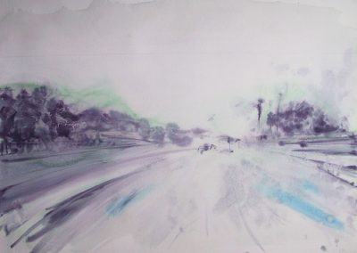 Motorway - 2005 • Oil on canvas • ? x ? cm