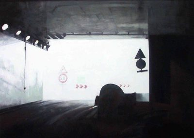 A86 Turn - 2006 • Oil on canvas • 122 x 60 cm