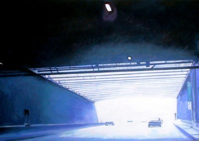 Mortorway Blue - 2006 • Oil on canvas • 122 x 60 cm