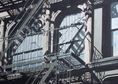 NY Shadows Black - 2006 • Oil on canvas • 122 x 60 cm
