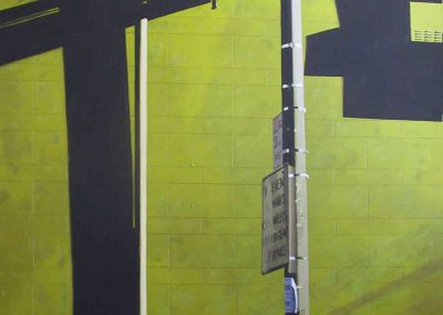 Green Building - 2007 • Oil on canvas • 162 x 114 cm