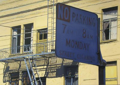 No Parking - 2008 • Oil on canvas • 210 x 120 cm