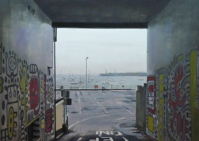 Turn Left - 2008 • Oil on canvas • 120 x 120 cm
