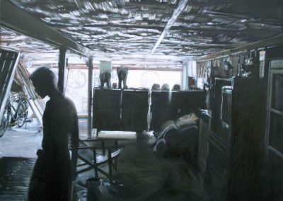 Elephants - 2009 • Oil on canvas • 120 x 120 cm
