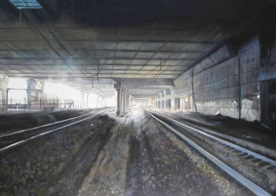 F-M Station - 2009 • Oil on canvas • 162 x 114 cm