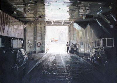Ferry Two - 2009 • Oil on canvas • 140 x 140 cm