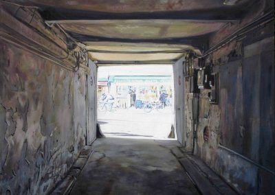 Passage Bazar - 2009 • Oil on canvas • 140 x 140 cm