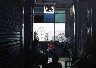 Yangoon Break - 2009 • Oil on canvas • 140 x 140 cm