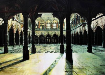 Anvers Cloisters - Jan. 2012 • Oil on canvas • 162 x 114 cm