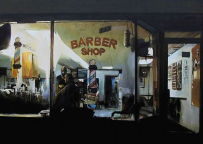 Backlight Barbershop - Sep. 2012 • Oil on canvas • 162 x 130 cm