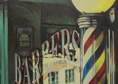 Barbers Flag - Sep. 2012 • Oil on canvas • 80 x 80 cm