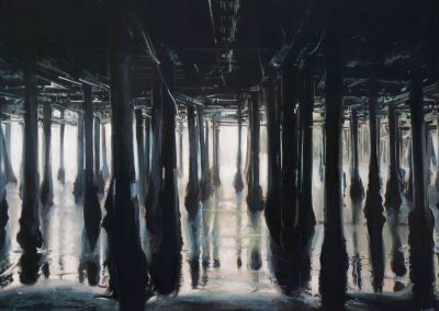 Black Pier - Mar. 2011 • Oil on canvas • 100 x 80 cm