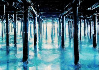 Blue Pier - 2011 • Oil on canvas • 100 x 100 cm