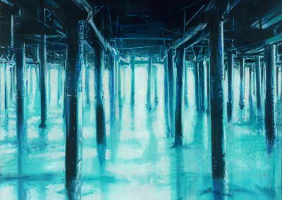 Blue pier XL - August 2015 • Oil on canvas • 140x 140cm