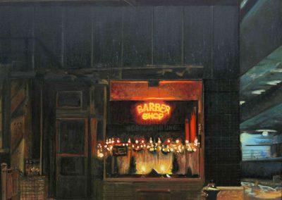 Christmas Barbershop - Jun. 2013 • Oil on canvas • 100 x 81 cm