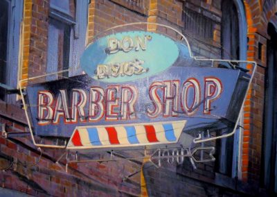 Don Besig Barbershop - Oct. 2012 • Oil on canvas • 90 x 120 cm