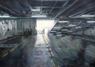 Double Deck - 2010 • Oil on canvas • 192 x 97 cm