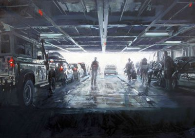 Exit 2 - 2010 • Oil on canvas • 145 x 97 cm