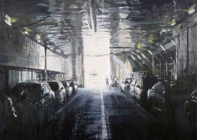 Ferry 4 - Fev. 2011 • Oil on canvas • 100 x 100 cm