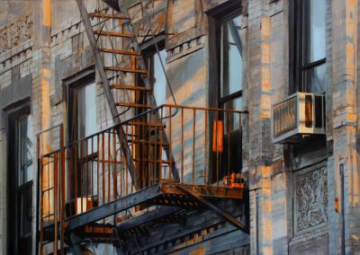 Five Windows NY - Jul. 2011 • Oil on canvas • 162 x 114 cm