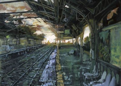 Forsaken station - Feb. 2014 • Oil on canvas • 120 x 100 cm