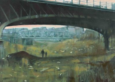 Fran's bridge - Januari 2015 • Oil on linen • 130 x 60 cm
