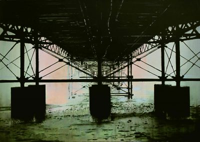 Green & Black Pier - Jan. 2012 • Oil on canvas • 162 x 114 cm