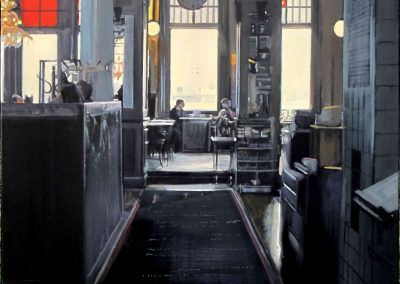 Hotel New York - Dec. 2012 • Oil on canvas • 100 x 100 cm