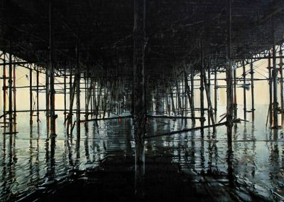 Iron Pier - Jan. 2012 • Oil on canvas • 146 x 114 cm