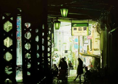 Kanda Station - Apr. 2011 • Oil on canvas • 120 x 120 cm