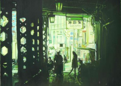 Kanda Station 3 - Sep. 2012 • Oil on canvas • 97 x 130 cm