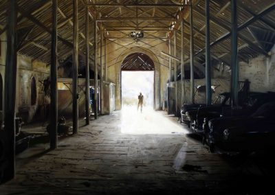 Le Garage du Maharadja - 2010 • Oil on canvas • 195 x 130 cm