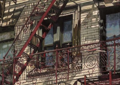 Lolo's Fire escape NY - June 2014 • Oil on linen • 130 x 88 cm