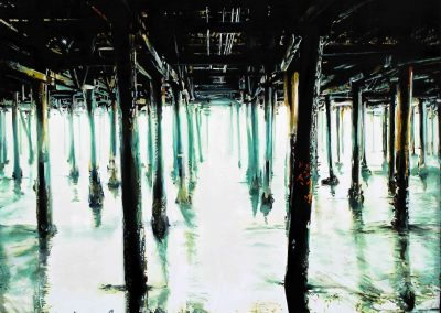 Low Tide - 2011 • Oil on canvas • 140 x 140 cm