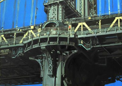 Manhattan Bridge - Feb. 2013 • Oil on canvas • 90 x 90 cm