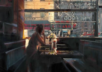 Manhattan girl - July 2015 • Oil on canvas • 81 x 100cm