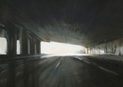 Motorway Window - 2010 • Oil on canvas • 73 x 60 cm