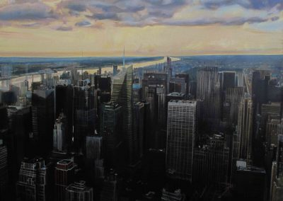 NY Skyview - Jul. 2013 • Oil on canvas • 162 x 130 cm
