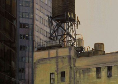 NY Water tank - Jul. 2013 • Oil on canvas • 60 x 120 cm