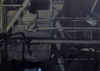 Night Fire Escape - Feb. 2011 • Oil on canvas • 100 x 120 cm