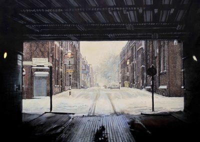 No Turn Left - Jan. 2012 • Oil on canvas • 144 x 114 cm