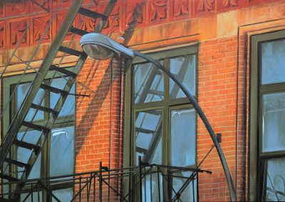 Orange Fire Escape - Feb. 2013 • Oil on canvas • 130 x 88 cm