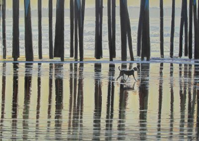 Pier Dog - Jun. 2013 • Oil on canvas • 109 x 86 cm