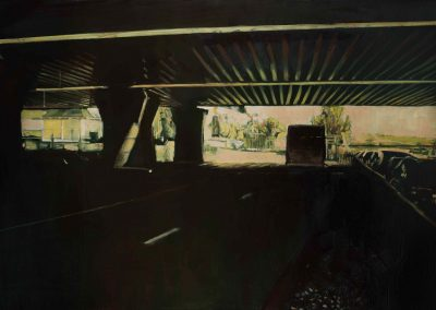 Pontoise tunnel - October 2014 • Oil on linen • 195 x 130 cm