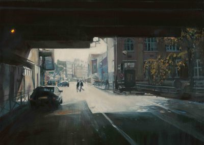 Rink backlight - Januari 2015 • Oil on linen • 146 x 114 cm