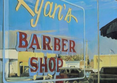 Ryan's Barbershop - Jun. 2012 • Oil on canvas • 100 x 100 cm