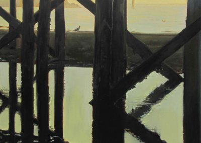 Seagul Pier II - Jun. 2013 • Oil on canvas • 100x100 cm