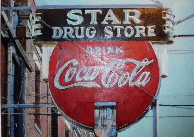 Star Drugstore - Oct. 2012 • Oil on canvas • 100 x 80 cm