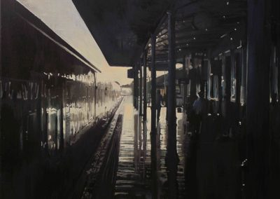 Station - 2011 • Oil on canvas • 80 x 100 cm